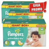 Maxi Pack de 396 Couches Pampers Active Baby Dry sur auchan