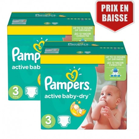 410 Couches Pampers Active Baby Dry taille 3 de Starckman
