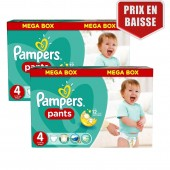 Maxi Giga Pack 282 Couches Pampers de Baby Dry Pants sur auchan