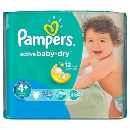 18 Couches Pampers Active Baby Dry taille 4+ de Starckman