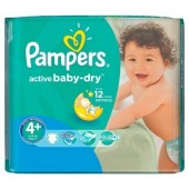 18 Couches Pampers Active Baby Dry taille 4+