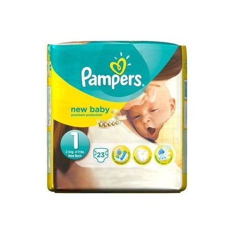 23 Couches Pampers New Baby taille 1 de Starckman