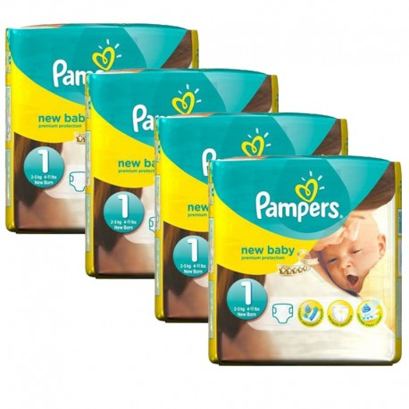 115 Couches Pampers New Baby taille 1 de Starckman