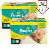 Maxi Giga pack de 345 Couches Pampers de New Baby sur layota