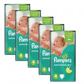 Maxi Giga pack de 294 Couches de Pampers Active Baby Dry sur auchan