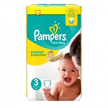 29 Couches Pampers Premium Protection - New Baby taille 3 de Starckman