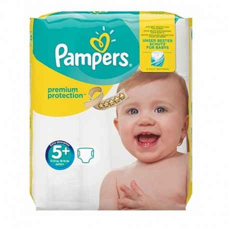 32 Couches Pampers Premium Protection - New Baby taille 5+ de Starckman