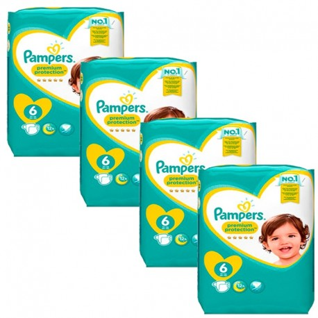 96 Couches Pampers Premium Protection - New Baby taille 6 de Starckman