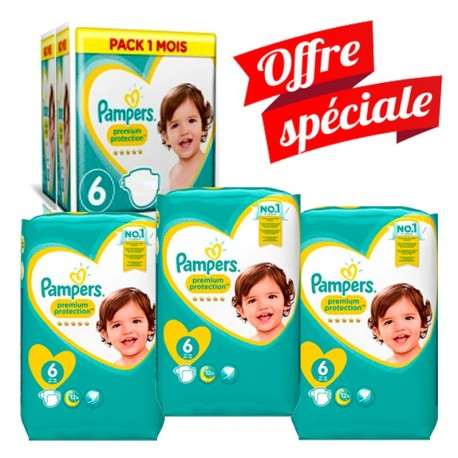 217 Couches Pampers Premium Protection - New Baby taille 6 de Starckman