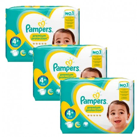 186 Couches Pampers Premium Protection - New Baby taille 4+ de Starckman