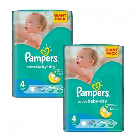 270 Couches Pampers Active Baby Dry taille 4 de Starckman