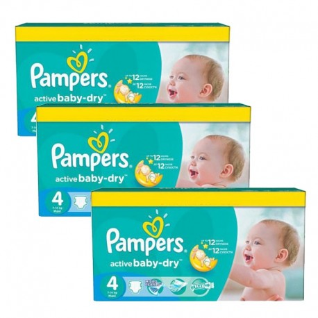 360 Couches Pampers Active Baby Dry taille 4 de Starckman