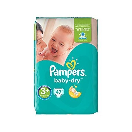 47 Couches Pampers Baby Dry taille 3+ de Starckman