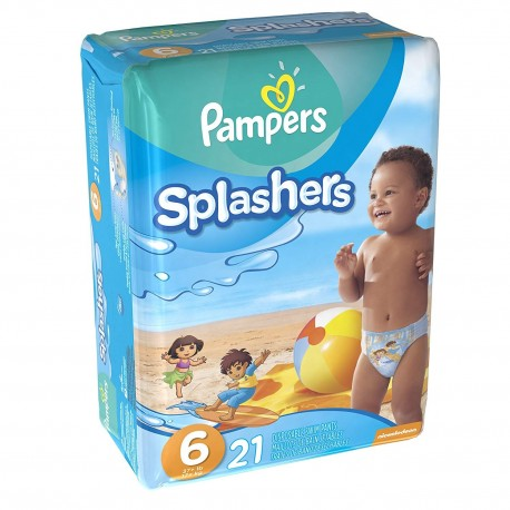 21 Couches de bains Pampers Swimming Pants Splachers taille 6 de Starckman