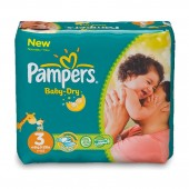 30 Couches Pampers Baby Dry taille 4 taille 4