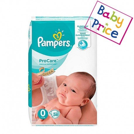 38 Couches Pampers ProCare Premium protection taille 0 de Starckman