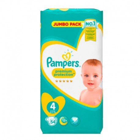 54 Couches Pampers New Baby - Premium Protection taille 4 de Starckman