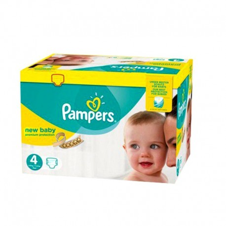 64 Couches Pampers New Baby - Premium Protection taille 4 de Starckman