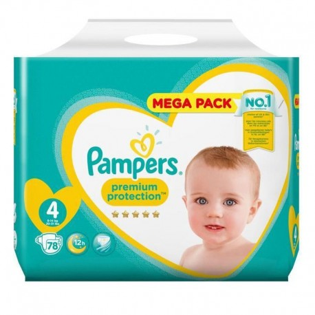 78 Couches Pampers New Baby - Premium Protection taille 4 de Starckman