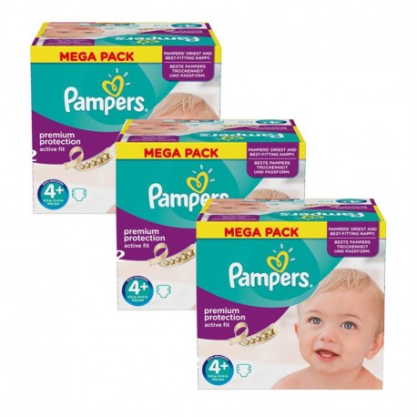 186 Couches Pampers Active Fit taille 4+ de Starckman
