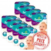 620 Couches Pampers Active Fit taille 4+