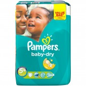 Pack 28 Couches Pampers de Baby Dry sur auchan