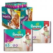 Pack Jumeaux 630 couches Pampers Active Fit Pants