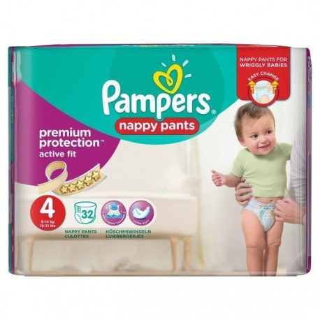 32 Couches Pampers Active Fit Pants taille 4 de Starckman