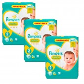 Maxi Pack 204 Couches Pampers New Baby Premium Protection sur auchan