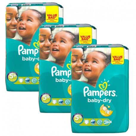 168 Couches Pampers Baby Dry taille 5+ de Starckman