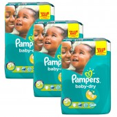 Maxi Pack 168 Couches Pampers de Baby Dry sur auchan