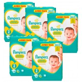 Giga Pack 340 Couches Pampers New Baby Premium Protection sur auchan