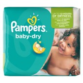 Pack de 25 Couches Pampers Baby Dry sur auchan