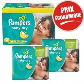 Maxi Pack 225 Couches Pampers de Baby Dry sur auchan