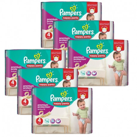 224 Couches Pampers Active Fit - Pants taille 4 de Starckman