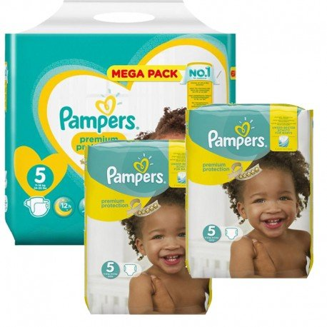 315 Couches Pampers New Baby - Premium Protection taille 5 de Starckman