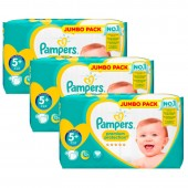 Maxi Giga Pack de 135 Couches Pampers New Baby Premium Protection sur auchan