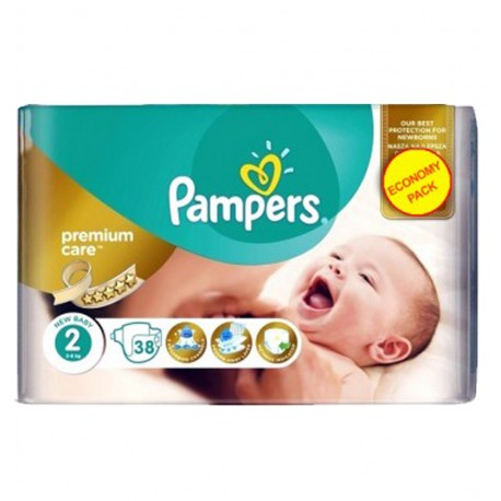 38 Couches Pampers New Baby - Premium Care taille 2 de Starckman