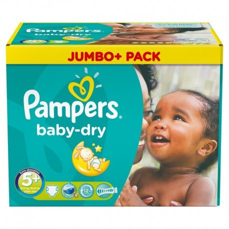 252 Couches Pampers Baby Dry taille 5+ de Starckman