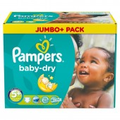 252 Couches Pampers Baby Dry taille 5+