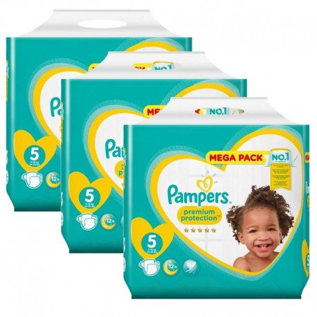 210 Couches Pampers New Baby - Premium Protection taille 5 de Starckman