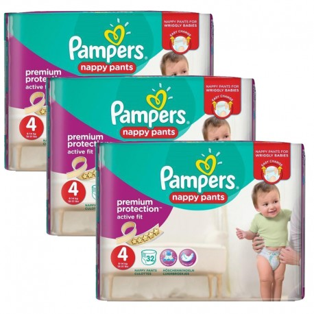 128 Couches Pampers Active Fit - Pants taille 4 de Starckman