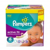120 Couches Pampers Active Fit - Premiun Protection taille 6