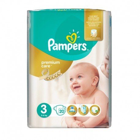 20 Couches Pampers Premium Care - Prima taille 3 de Starckman