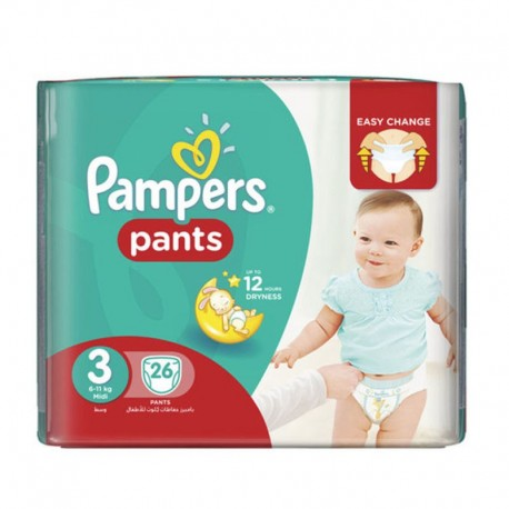 26 Couches Pampers Baby Dry Pants taille 3 de Starckman