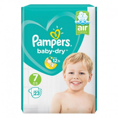 23 Couches Pampers Baby Dry taille 7 de Starckman