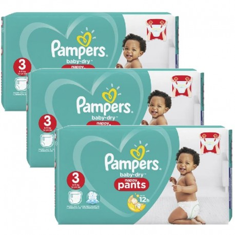 130 Couches Pampers Baby Dry Pants taille 3 de Starckman