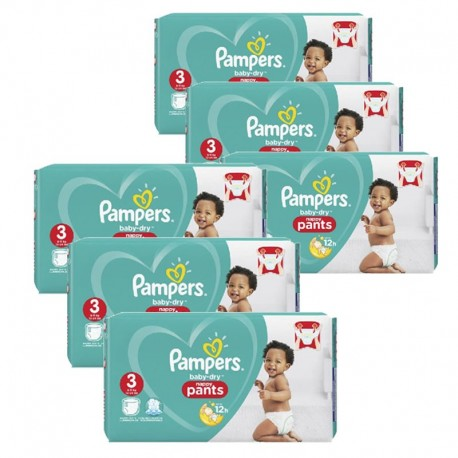 260 Couches Pampers Baby Dry Pants taille 3 de Starckman