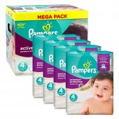 Giga Pack 504 Couches de Pampers Active Fit sur auchan