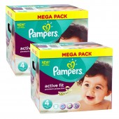 Giga Pack 840 Couches Pampers Active Fit sur auchan